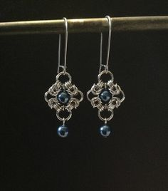 Free Chainmail Patterns Chain Maille | Freya Chain Maille Jewelry | Handmade Chain Maille Romanov Earrings ...