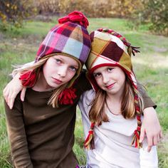 Funky Fleece Hats Sizes Newborn - Teen Sewing Pattern | What's New | YouCanMakeThis.com