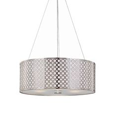 Lite Source LS-19519PS Netto Ceiling Lamp, Polished Steel with Net Metal Front And White Polished Steel Back Shade Lite Source http://smile.amazon.com/dp/B003JGC5ZA/ref=cm_sw_r_pi_dp_wUyDwb0HXX7SG