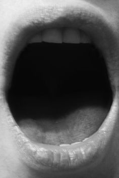 Untitled (Open Mouth), B&W print, 64 x 46 cm (framed), 2011 Marzena Nowak
