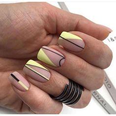 18 Ways to Wear Gradient Nails & Rainbow Nails Spring 2019 Cute Acrylic Nails, Toe Nail Art, Cute Nails, Gel Nail, Pretty Nail Designs, Nail Art Designs, Nails Design, Hair And Nails, My Nails