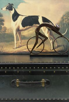 Having fun with old photo, new sculpture and antique trunk Old Photos, Stuart Weitzman, Have Fun, Trunks, Design Ideas, Horses, Sculpture, Antiques, Animals