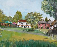 Original painting of The Rose Inn at by JulianLovegroveArt on Etsy