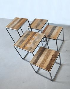 Wood Iron stools by Reverse