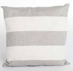 Grey Linen Stripe Cushion, Also Available in Blue - - Hicks and Hicks Striped Cushions, Bed Pillows, Pillow Cases, Grey, Interior, Blue, Pillows, Gray, Indoor