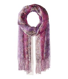 MISSONI MISSONI - SCARF (MULTI PURPLE) SCARVES. #missoni #