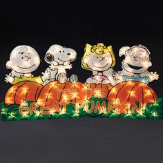 """It' the great pumpkin"" lighted yard sign"
