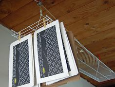 Boarding All Rows | Linocut and Woodblock Printmaking Blog: Adjustable DIY Print Drying Rack
