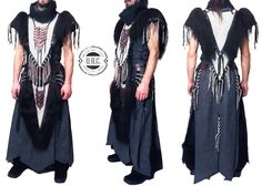 """A new men's Shamanic outfit for the duo """"Chanahgurd"""" from Konigsberg! Materials: Linen, Cotton, Leather, Natural Fur, Metalaccessories Designed and Handcrafted by O.R.C.  https://www.facebook.com/Chanahgurd-175930355942627 #concertcostumes #concertoutfits #orc #orc_fashion #shaman #shaman_woman #druid #Chanahgurd #natural #handmade #handcrafted"""