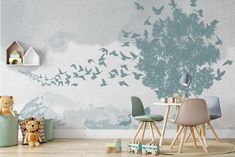 #bedroom #kidswallart #kidswallpaper #removablewallpaper #kidsroomdecor #walldecor #customwallpaper #modernwallpaper #playroomwallpaper Palm Leaf Wallpaper, Cloud Wallpaper, Kids Wallpaper, Modern Wallpaper, Custom Wallpaper, Playroom Wallpaper, Gold Skies, Peel And Stick Vinyl, Scandinavian Design