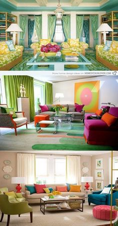 Colorful Living Room Interior Design - No doubt that nature is a main source of inspiration and full of many creative and cheerful ideas not only for the designs but also for the life as whole . If you are one of the people who keen of nature and want to put some natural touch to your living room in order to be full of life , this... -  - interior design, living room