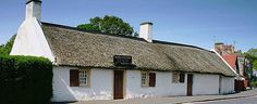 Burns Cottage, Alloway, Ayrshire, Scotland, the birthplace of one of the world's great poets.