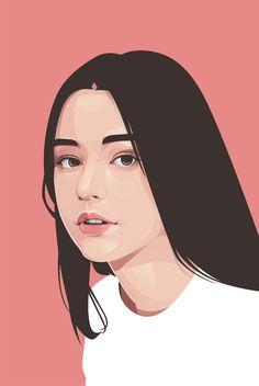 Portrait Cartoon, Vector Portrait, Digital Portrait, Portrait Art, Portrait Illustration, Digital Illustration, Illustration Girl, Girl Cartoon, Cartoon Art