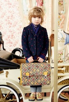 3a8419a2d68fd Cool pattern mixes for the boyswear at Gucci kids collection for  fall winter 2016