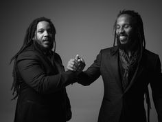 Behind the Scenes Image: Stephen and Ziggy Marley for John Varvatos Spring 2015 campaign