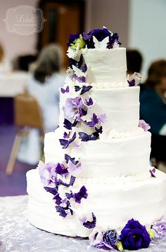 The bride loved all things purple and butterflies! <3 *Photo courtesy of Lisbet Photography*