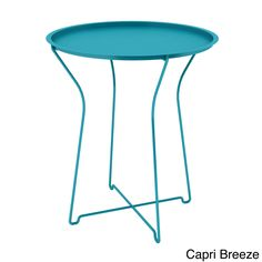 Brighten your home decor with the fashionable Atlantic metal side table. Featuring a powder-coated finish for durability, this contemporary table comes in three bold colors and can be folded up for convenient storage.
