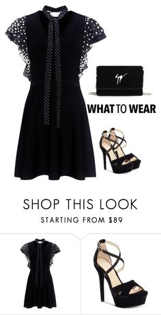 """""""Untitled #2952"""" by carlene-lindsay ❤ liked on Polyvore featuring RED Valentino, Jessica Simpson and Giuseppe Zanotti"""