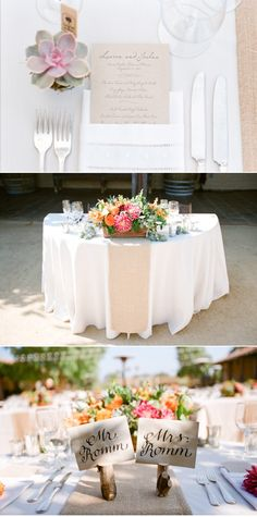 table setting with succulent favors