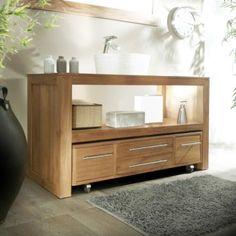 Waschtisch 75 x 50 unterschrank unterbau waschbecken for Meuble bas salle de bain sans vasque