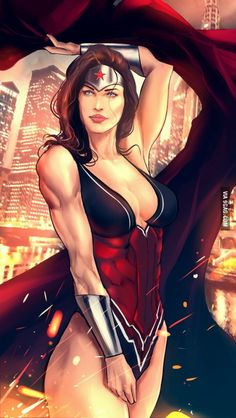 Pick any female Heroes that is good for one night stand, I choose Wonder Woman