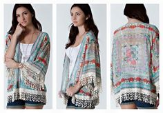 """""""Queen Of The Garden"""" Floral Kimono Small Left! $36.00 http://www.smalltowngypsy.com/catalog.php?item=4173"""