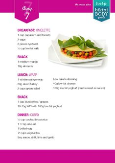 Kayla itsines healthy eating and lifestyle plan day 7