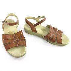 SAS Tripad Comfort Sandals 9 Huarache Antique Tan Brown Leather Ankle Strap Wedg #SAS #AnkleStrap #Casual