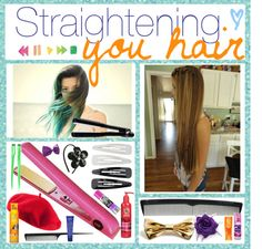 """TIPs and tricks to Straightening your hair."" by thetippiest-tipgirls ❤ liked on Polyvore"