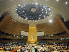 Розпочалось засідання Генасамблеї ООН, де розглянуть резолюцію щодо Криму. Раніше глава Меджлісу кримськотатарського народу Рефат Чубаров висловив сподівання, що у грудні Генасамблея ООН прийме резолюцію, яка була прийнята комітетом Асамблеї ООН місяць тому, де вказувалося про Росію як країну агресора. #time_ua #новини #Україна #Київ #новости #Украина #Киев #news #Kiev #Ukraine  #EU #Україна_і_світ