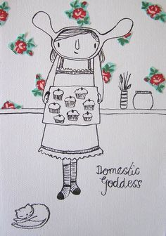 Domestic Goddess by AuntyCookie on Etsy