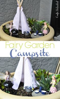 Even Fairies Like to Vacation: Campsite Fairy Garden Ideas