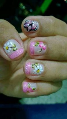 Super nails design tips unique ideas Beach Nail Art, Beach Nails, Diy Nail Designs, Short Nail Designs, Art Designs, Pink French Manicure, Nail Art For Beginners, Trendy Nail Art, Get Nails