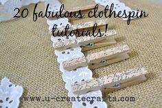 i LOVE me a good clothespin reuse :).  #diy #craft #clothespin