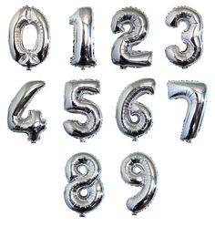 40 inch Golden And Silver Foil Balloon Large Helium Number Balloons Wedding Decoration Birthday Party Souvenirs favors