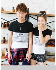 2015 Korean Valentine's Day Gift Couple T Shirt Lovers Clothes Women's Men's Long Sleeve T-shirts Tops