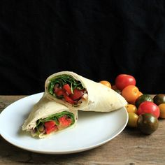 The Stay At Home Chef: Roasted Red Pepper and Tomato Wrap