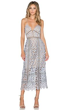 self-portrait Arabella Midi Dress en Smoked Lilac & Nude Trendy Dresses, Short Dresses, Fashion Dresses, Summer Dresses, Dresses Dresses, Cheap Dresses, Mode Pop, Robes Midi, Evening Outfits