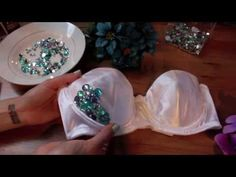 ▶ EDC DIY - Flower RhineStone Bra Top - YouTube