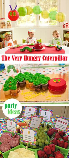 Very Hungry Caterpillar Party Ideas. This would pair well with a butterfly unit.