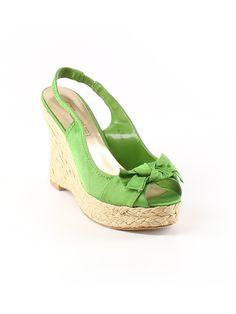 Moda Spana Wedges: Size 7.00 Green Women's Clothing - $41.99