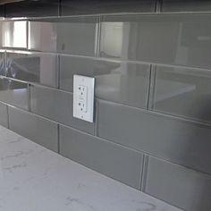 Subway Glass Tile Smoke Grey 2x4 Kitchen backsplash Swimming