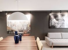 Decoração de Sala de Jantar -Sala de jantar e estar integradas com decorações diferentes, mas que se complementam Projeto de Glaucio Gonçalves