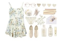 """peace"" by twerk ❤ liked on Polyvore featuring Fleur of England, Fresh, H&M and Aveda"