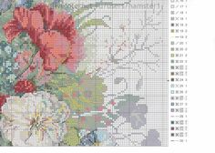 Gallery.ru / Фото #1 - цветы 6 - koreianka Needlepoint Stitches, Needlework, Cross Stitch Flowers, Cross Stitch Embroidery, Cross Stitch Patterns, Diy And Crafts, Projects To Try, Old Things, Map