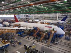 An Air India Boeing 787 Dreamliner at the Boeing South Carolina Factory.