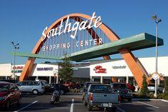 Southgate Shopping Center, Lakeland FL this is where Edward Scissorhands was filmed Lakeland Florida, Old Florida, Entrance Gates, Gate Design, Futuristic Architecture, Googie, Retro Futurism, Modern Buildings, Shopping Center