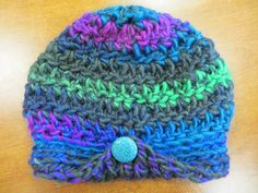 Wendy's version of the Katie crocheted hat in Universal Yarns Classic Shades Big Time. Universal Yarn, Yarn Projects, Big Time, Yarns, Crochet Hats, Beanie, Shades, Knitting, Gallery