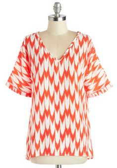 Mast and Present Top in Zigzag, #ModCloth