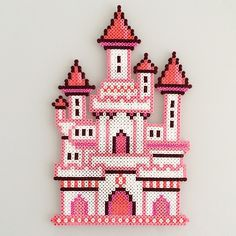 Fairy castle hama beads by Sarah Abbondio